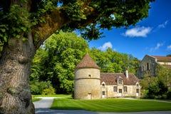 Abbotskloster av Fontenay, Bourgogne, Frankrike Arkivfoto