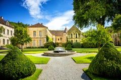 Abbotskloster av Fontenay, Bourgogne, Frankrike Royaltyfri Fotografi