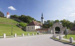 Abbotskloster av Heiligenkreuz i lägre Österrike Arkivbilder