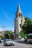 Abbotskloster av Helgon-Germain-des-Pres, Paris, Frankrike Arkivbilder