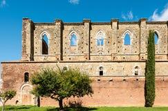 Abbotskloster av helgonet Galgano, Tuscany, Italien Arkivfoto
