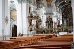 Abbotskloster av helgonet Gall Interior Royaltyfri Foto