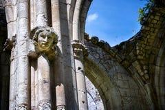Abbotskloster av Jumieges, fördärvar av abbotskloster från 1067, Normandie, Frankrike Royaltyfri Fotografi