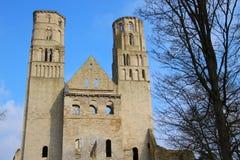 Abbotskloster av Jumieges i Normandie - Frankrike Fotografering för Bildbyråer