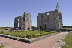 Abbotskloster av LaFlotte-en-Ré i Frankrike Arkivbilder