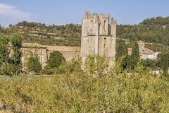 Abbotskloster av Lagrasse Arkivbild