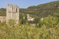 Abbotskloster av Lagrasse Royaltyfria Foton