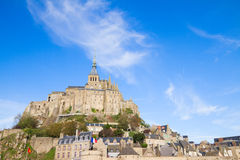 Abbotskloster av Mont Saint Michel Royaltyfri Foto