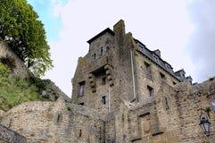 Abbotskloster av Mont Saint Michel, Normandie, Frankrike Royaltyfria Bilder