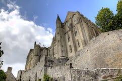 Abbotskloster av Mont Saint Michel, Normandie, Frankrike Royaltyfri Foto