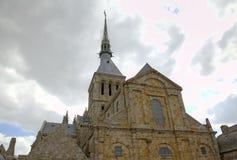 Abbotskloster av Mont Saint Michel, Normandie, Frankrike Royaltyfri Bild