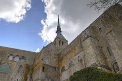 Abbotskloster av Mont Saint Michel, Normandie, Frankrike Royaltyfria Foton