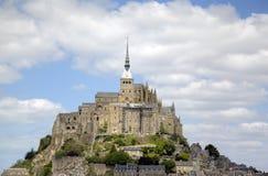 Abbotskloster av Mont Saint Michel, Normandie, Frankrike Arkivfoton