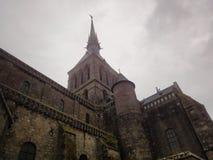 Abbotskloster av Mont Saint-Michel, Normandie, Frankrike Royaltyfria Foton