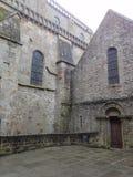 Abbotskloster av Mont Saint-Michel, Normandie, Frankrike Arkivfoton