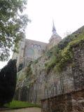 Abbotskloster av Mont Saint-Michel, Normandie, Frankrike Arkivbild