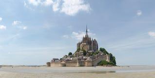 Abbotskloster av Mont St Michel Arkivfoton