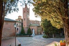 Abbotskloster av Monte Oliveto Maggiore Arkivbild