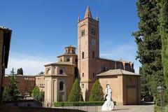 Abbotskloster av Monte Oliveto Maggiore Arkivbilder