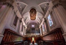 Abbotskloster av Monte Oliveto Maggiore, Tuscany, Italien Royaltyfria Bilder