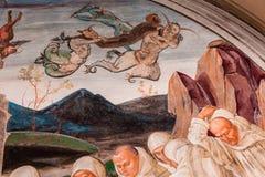 Abbotskloster av Monte Oliveto Maggiore, Tuscany, Italien Royaltyfri Foto