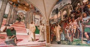 Abbotskloster av Monte Oliveto Maggiore, Tuscany, Italien Royaltyfri Fotografi