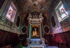 Abbotskloster av Monte Oliveto Maggiore, Tuscany, Italien Fotografering för Bildbyråer