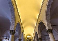 Abbotskloster av Monte Oliveto Maggiore, Tuscany, Italien Royaltyfri Bild