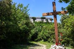 Abbotskloster av Montecassino royaltyfria foton