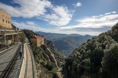 Abbotskloster av Montserrat järnväg Royaltyfria Foton