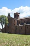 Abbotskloster av Morimondo (Milan) Royaltyfri Fotografi