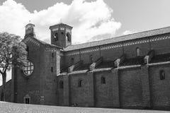 Abbotskloster av Morimondo (Milan) Royaltyfria Foton
