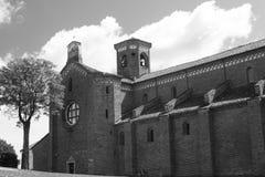 Abbotskloster av Morimondo (Milan) Fotografering för Bildbyråer