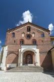 Abbotskloster av Morimondo (Milan) Arkivfoto