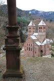 Abbotskloster av Murbach, Alsace Royaltyfri Fotografi