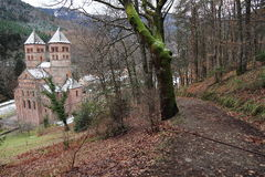 Abbotskloster av Murbach, Alsace Royaltyfria Bilder