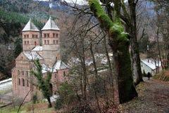 Abbotskloster av Murbach, Alsace Arkivfoto
