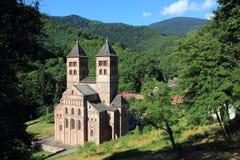 Abbotskloster av Murbach, Alsace Fotografering för Bildbyråer