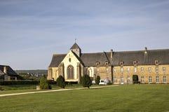 Abbotskloster av Paimpont Broceliande Frankrike Royaltyfria Bilder