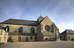 Abbotskloster av Paimpont Broceliande Frankrike Royaltyfri Fotografi