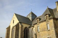 Abbotskloster av Paimpont Broceliande Frankrike Royaltyfri Bild