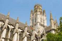 Abbotskloster av Saint-ouen i den Rouen staden Arkivbild