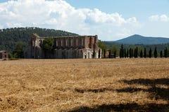 Abbotskloster av San Galgano Arkivfoton