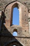 Abbotskloster av San Galgano Arkivfoto