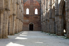 Abbotskloster av San Galgano Royaltyfri Bild
