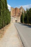 Abbotskloster av San Galgano Arkivbilder