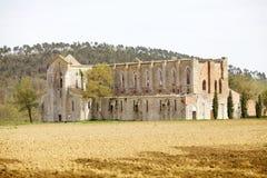 Abbotskloster av San Galgano, Tuscany, Italien Arkivfoton