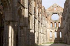 Abbotskloster av San Galgano, Tuscany, Italien Royaltyfria Foton