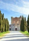 Abbotskloster av San Galgano, Tuscany, Italien Royaltyfri Bild