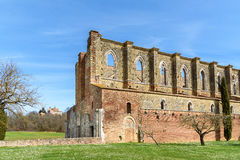 Abbotskloster av San Galgano, Tuscany, Italien Royaltyfri Fotografi